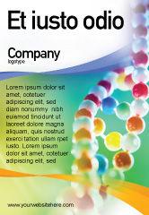 Medical: Modèle de Publicité de dna sur un vert jaune bleu #01884