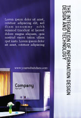 Consulting: Interior In Violet Ad Template #01896