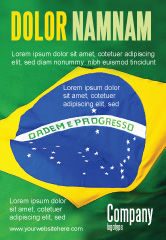 Abstract/Textures: Braziliaanse Vlag Advertentie Template #01915