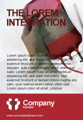 Medical: Bloedtransfusie Advertentie Template #01917