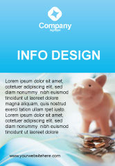 Financial/Accounting: Templat Periklanan Piggy Bank Dan Koin #01932