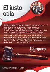 Legal: 法官槌广告模板 #01953