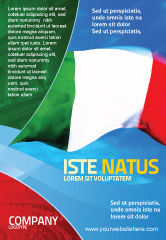 Flags/International: Italian Flag Ad Template #01964