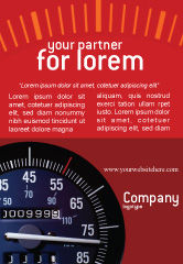Cars/Transportation: Snelheidsmeter Advertentie Template #01985