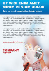 Financial/Accounting: Korting Advertentie Template #02004