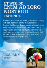 Nature & Environment: Bewolkte Lucht Advertentie Template #02006