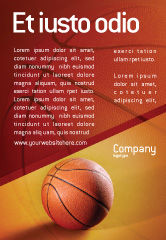 Sports: Voordat Basketbalwedstrijd Advertentie Template #02016
