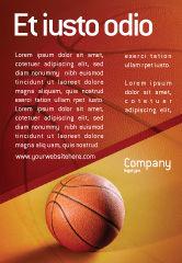 Sports: Plantilla de publicidad - antes del juego de baloncesto #02016