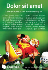 Sports: Gridiron Football Ad Template #02030