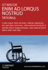 Medical: Handicapped Ad Template #02064