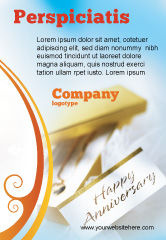 Holiday/Special Occasion: Happy Anniversary Ad Template #02177