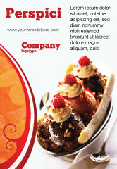 Food & Beverage: Banana Split Ad Template #02192