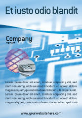 Technology, Science & Computers: Microprocessor Advertentie Template #02205