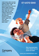 People: Father and Son Ad Template #02217