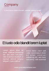 Religious/Spiritual: Breast Cancer Awareness Ad Template #02302