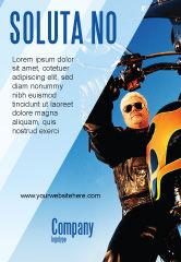 Cars/Transportation: 骑自行车的人广告模板 #02315