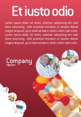 Medical: Plantilla de publicidad - píldoras en el collage #02319