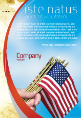 Flags/International: Usa Flag Advertentie Template #02329