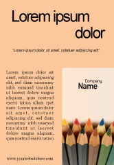 Business Concepts: Color Pencil Ad Template #02353