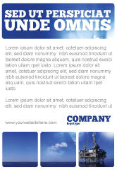 Utilities/Industrial: Drilling Platform Ad Template #02356