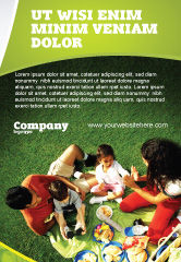 People: Family Picnic Ad Template #02364