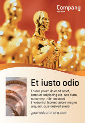 Art & Entertainment: Movie Award Ad Template #02371