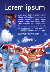 America: Children Of The USA Ad Template #02377