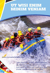 Sports: Rafting Ad Template #02380