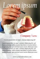 Medical: Kunstgebit Advertentie Template #02385