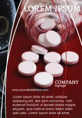 Medical: Pills From The Bottle Ad Template #02414