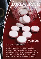 Medical: 来自瓶子的药丸广告模板 #02414