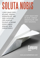 Construction: Paper Airplane Ad Template #02441