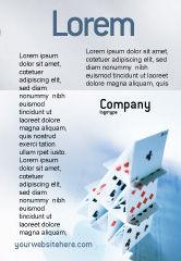 Art & Entertainment: Karten zum spielen Anzeigenvorlage #02457