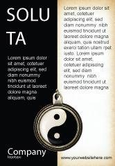 Religious/Spiritual: Plantilla de publicidad - yin yang #02525