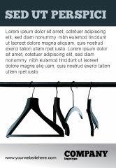 Business Concepts: Plantilla de publicidad - perchas de ropa #02565