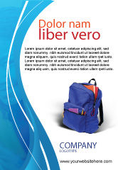 Education & Training: School Backpack Ad Template #02577
