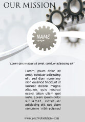 Utilities/Industrial: Gears Advertentie Template #02605