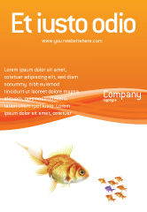 Agriculture and Animals: Goldfish Ad Template #02710