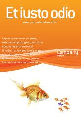 Agriculture and Animals: Goldfisch Anzeigenvorlage #02710