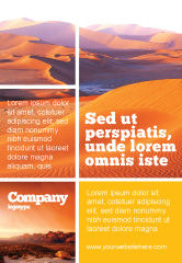 Nature & Environment: Red Desert Ad Template #02728