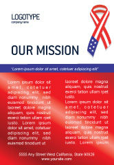 Holiday/Special Occasion: Patriot Ribbon Ad Template #02739