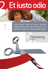 Holiday/Special Occasion: Cutting Red Tape Ad Template #02829