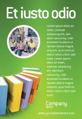 Education & Training: Bücher Anzeigenvorlage #02844
