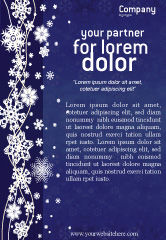 Holiday/Special Occasion: Snowflakes Ad Template #02846