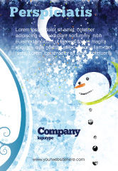 Holiday/Special Occasion: Snowman Ad Template #02847