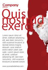 Holiday/Special Occasion: Modelo de Anúncio - santa ao virar da esquina #02849