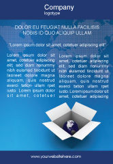 Global: Globe In De Doos Advertentie Template #02864