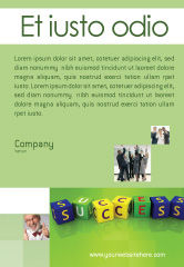 Business Concepts: Succes Advertentie Template #02869