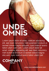 Medical: 女性解剖肌肉紧身胸衣广告模板 #02872