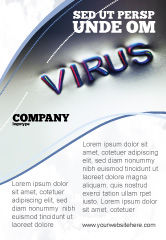 Medical: Modèle de Publicité de signe de virus #02875